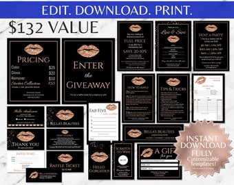 Rose Gold|Glitter|Black|LipSense Business Bundle|LipSense|LipSense Business Cards|SeneGence|LipSense Distributor|Marketing|Ultimate| Kit