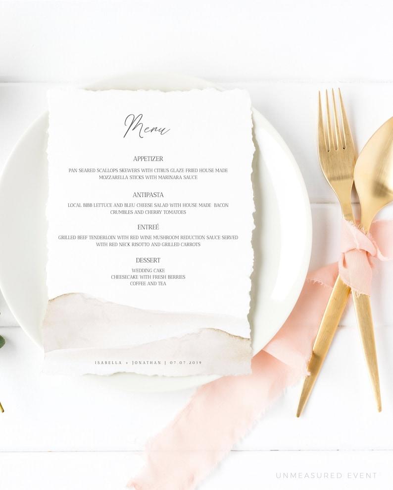 Amelia - Desert Wedding Menu Template, Beach Wedding Menu, Printable  Wedding Menu, Wedding Menu Template, Menu Card Template, Instant,#0026A