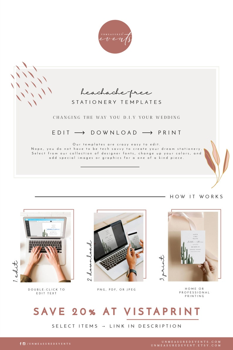 ZION National Park Save the Date Template Watercolor Utah Mountains Wedding Save the Date DIY Zion Postcard Save the Date Instant Download