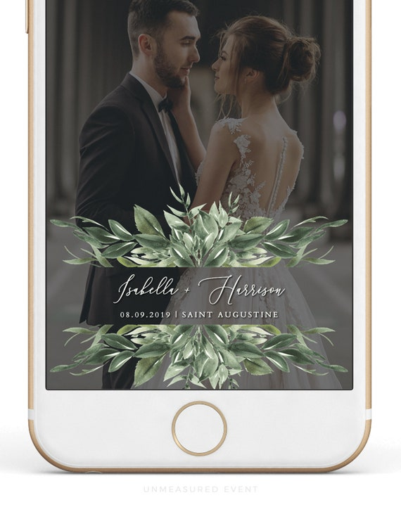 Lana Greenery Snapchat Filter Template Greenery Wedding Snapchat Filter Minimal Wedding Snapchat Geofilter Instant Download Snap Chat