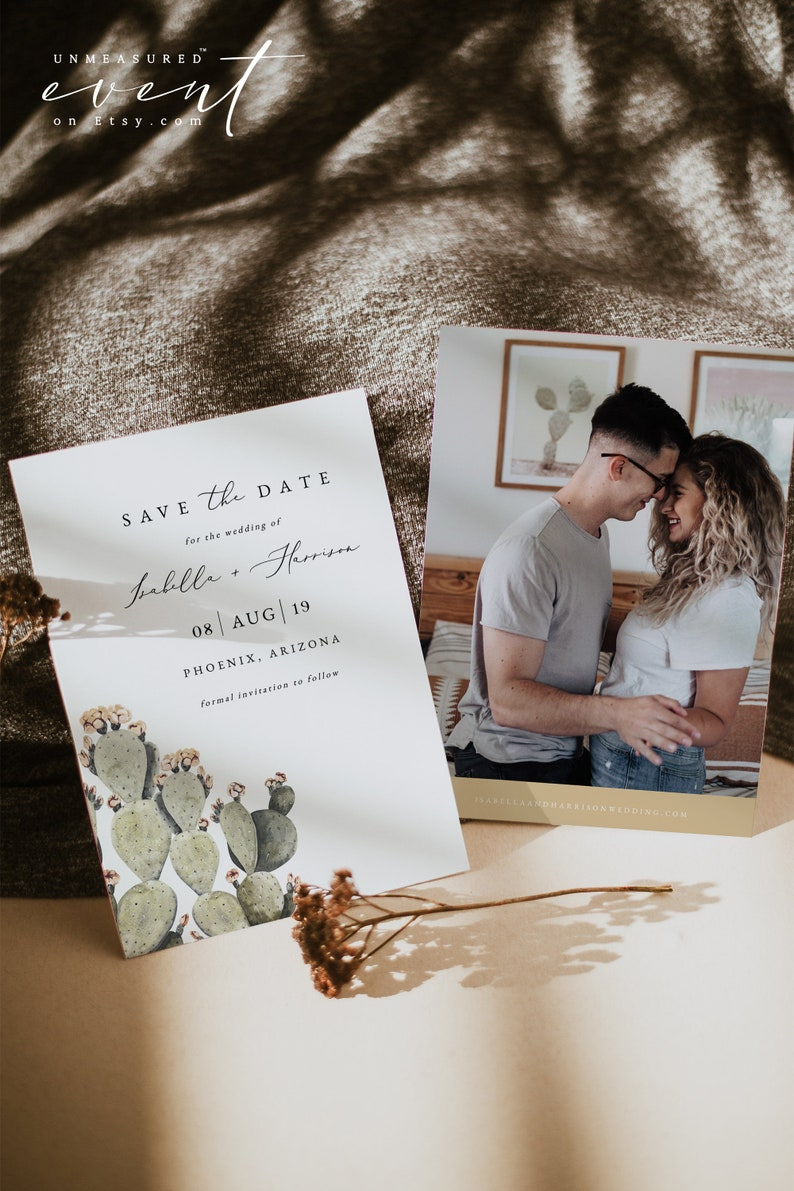 Earth Tone Save the Date Save the Date Arizona Wedding Printable Cactus Save the Date NORAH Desert Save the Date Boho Save the Date
