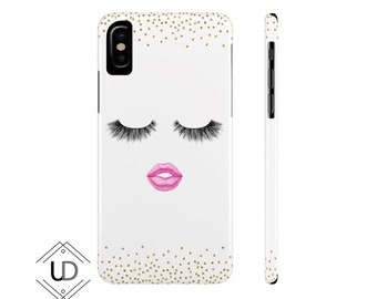 Lashes And Lips Phone Case