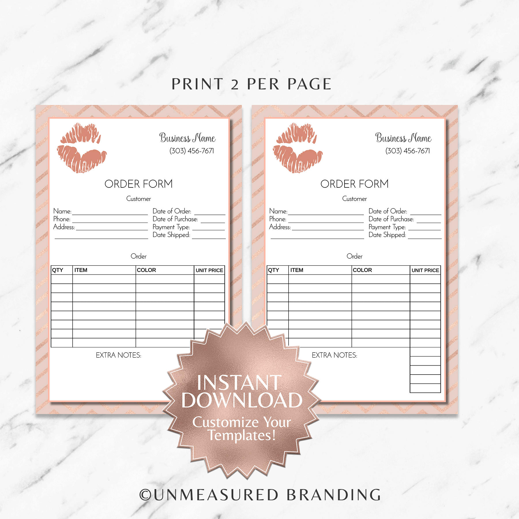 rose gold and blush pink lipsense and makeup business printable