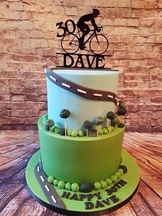 Terrific Personalised Bike Topper Cycle Acrylic Birthday Cake Topper Etsy Personalised Birthday Cards Xaembasilily Jamesorg