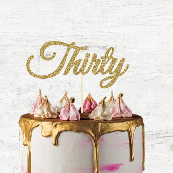Terrific 30Th Birthday Cake Topper Thirty Number Only Birthday Etsy Personalised Birthday Cards Cominlily Jamesorg