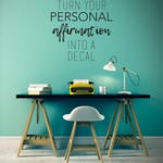 Custom Affirmation Wall Decal - Create Your Own Wall Words Home Decor