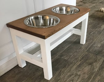 Dog Bowl Stand Etsy