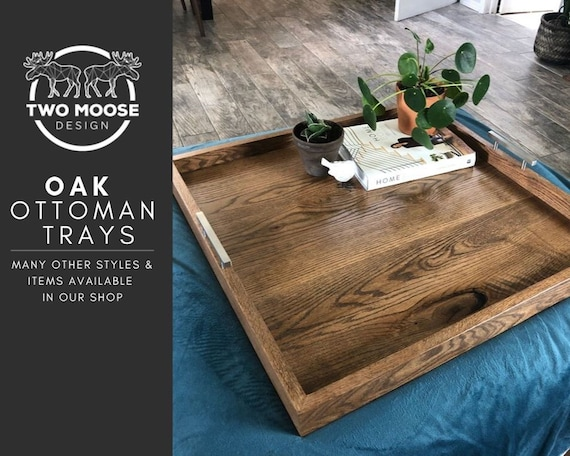 Super Solid Oak Ottoman Tray Hardwood Oak Oversized Ottoman Tray Wood Ottoman Tray Square Coffee Table Tray Modern Table Tray Wooden Serving Tray Pdpeps Interior Chair Design Pdpepsorg