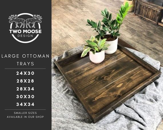 Fantastic Ottoman Tray Oversized Wooden Ottoman Tray Large Wooden Ottoman Tray Square Coffee Table Tray Farmhouse Table Tray Wooden Serving Tray Inzonedesignstudio Interior Chair Design Inzonedesignstudiocom