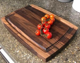 Black Walnut Cutting Board - Edge Grain Butcher Block - Customizable with Engravings - Choose Your Shape & Size
