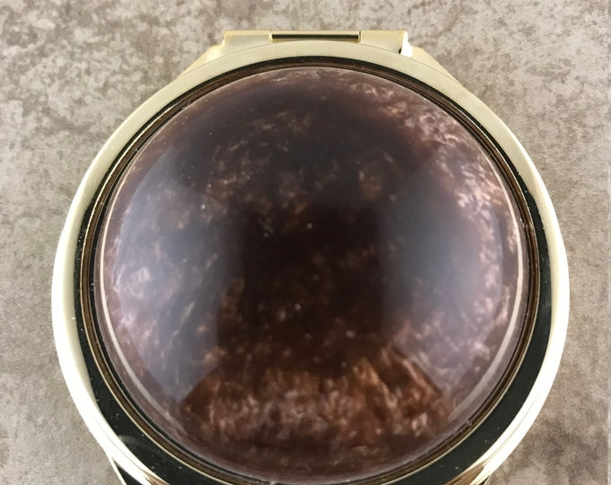 Hand Made Compact Mirror - Custom Blended Gold and Black Acrylic
