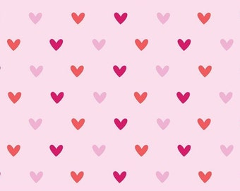 Hearts Pink Flannel by Riley Blake