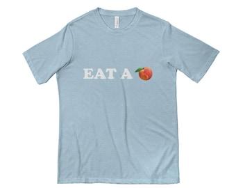 a21f1246866 Eat a peach t shirt! Vintage look