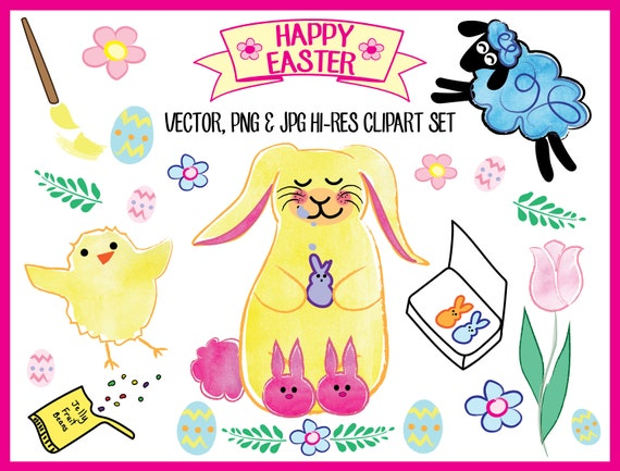 easter clipart jpeg png high res digital clipart vector etsy rh etsy com High Resolution Brick High Resolution Holiday Graphics