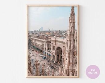 Italy Fine Art Print | Milan Print | Architecture art print | College Wall Decor | Home Decor | Dorm | Printable Art | Digital Art print
