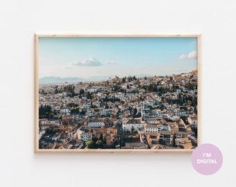 Granada Print | Spain Print | Alhambra Print | Back to school | Europe Print | Wall Decor | Home Decor | Dorm | Printable Art | Digital Art