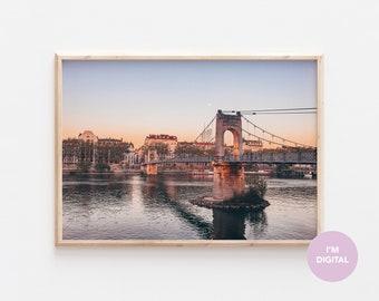 Lyon Print | France Print | Sunset Print | Back to school | Europe Print | Wall Decor | Home Decor | Dorm | Printable Art | Digital Art