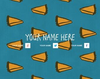 Youtube Banner Customised Pie Design