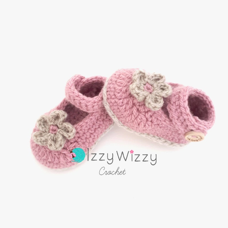 1474271c8a9cd Handmade Crochet Newborn Baby Ballerina Shoes