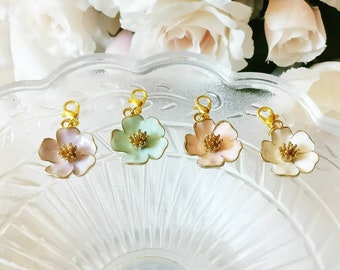 Pastel Spring Flower Charms