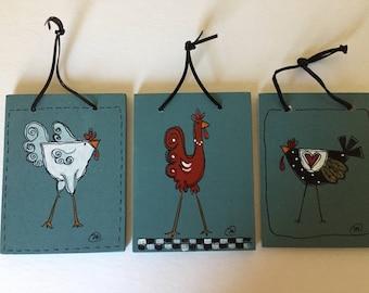 Handpainted Farmhouse Kitchen Chicken Art   ( Kitchickens lolol !)