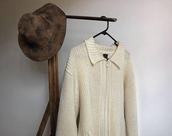 Vintage wool cardigan.
