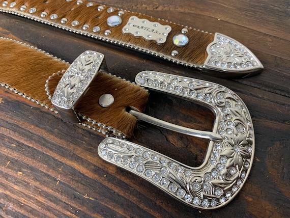 Rhinestone & Horsehair Belt | Vintage | Western
