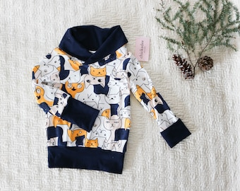 e665a9549 Wrap Cowl Pullover MADE TO ORDER, pullover dress , kids pullover, cozy dress,  girls sweatshirt, baby sweater, toddler cardigan, sweater