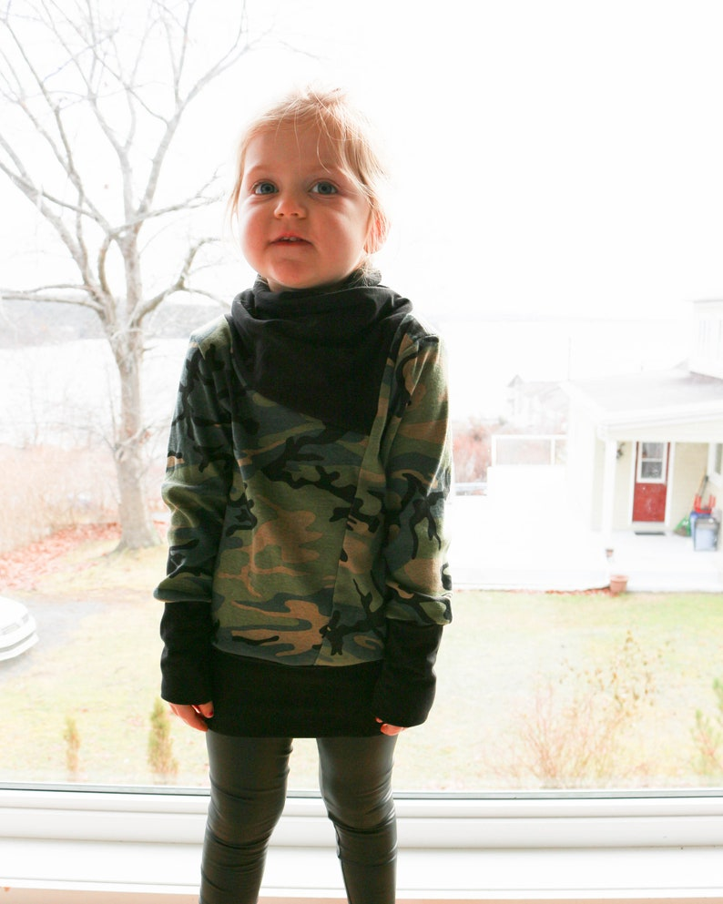 Kids biker pullover baby sweater Grow with me kids sweater toddler sweater Unisex Biker Pullover MADE TO ORDER