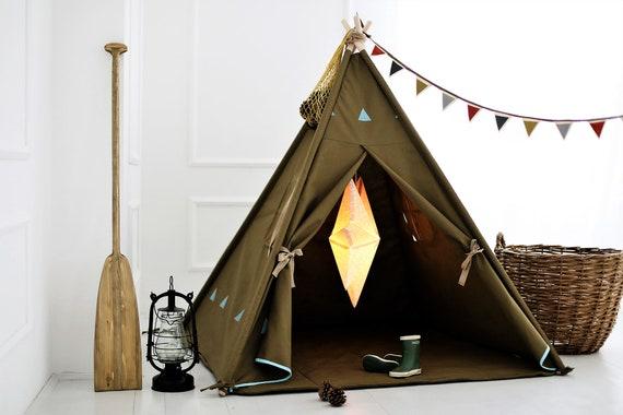 50 & Khaki Blue play Tent teepee tent teepee kids kids play | Etsy