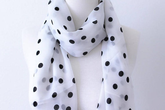 Polka Dot Spot Scarf Scarves Soft Lightweight Chiffon Scarve Wrap Various Colour