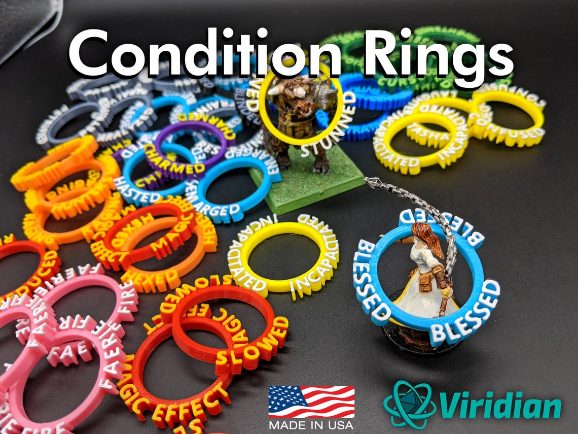 Viridian Condition Rings  70 Status Effect Markers for image 0