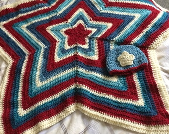 Star Baby Alpaca Blanket and Baby Hat