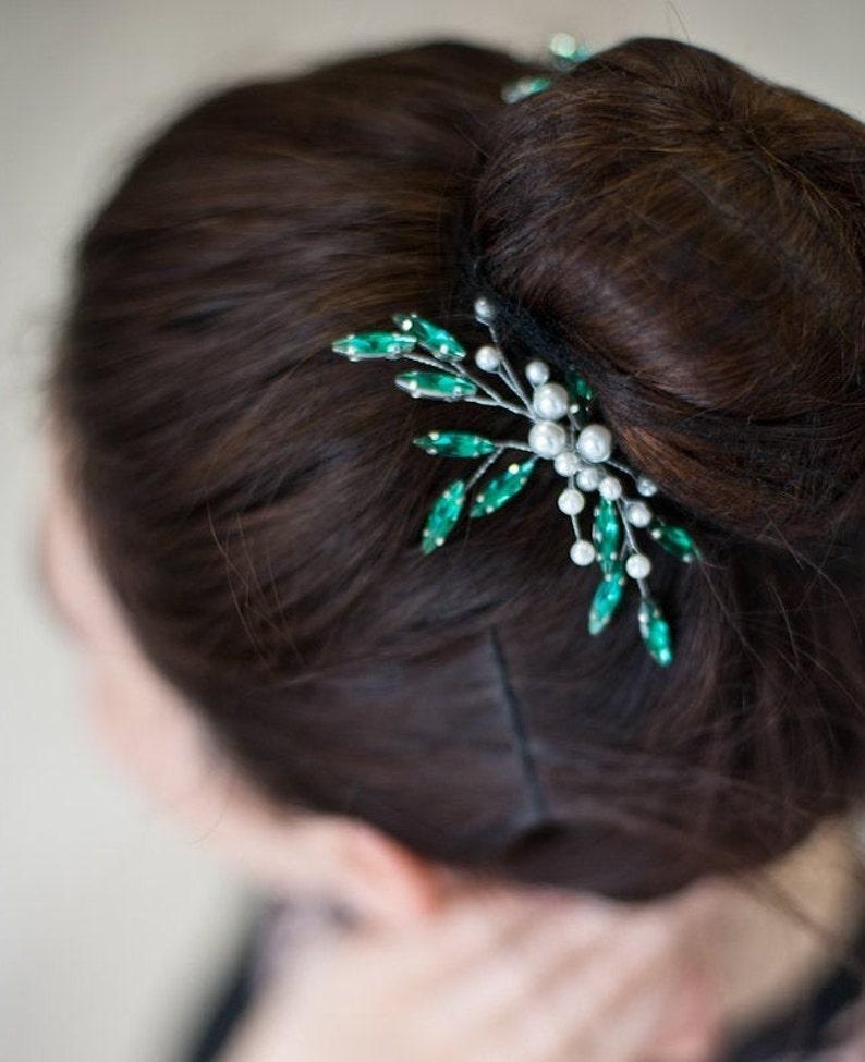 Haarschmuck Smaragd