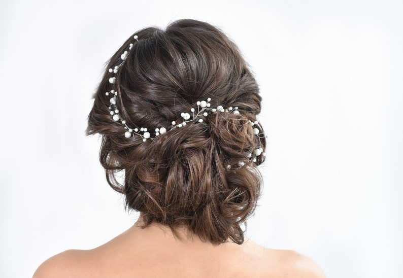 Babys breath hair piece Silver hair vine Gypsophila hair accessories