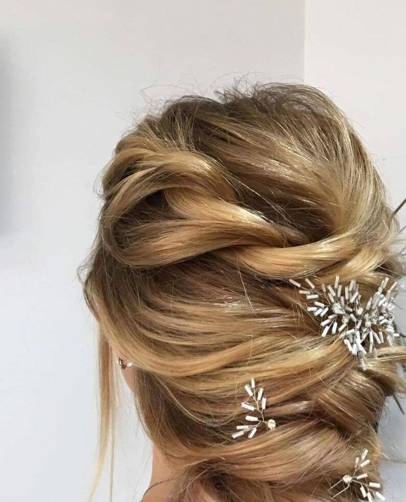 Bride hair piece Bridesmaid hair accessories Wedding hair piece Thistle hair piece