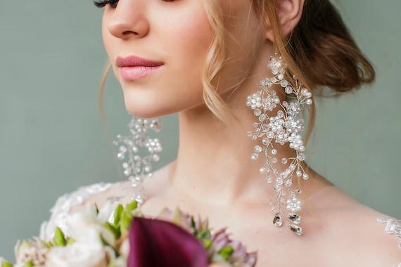 Chandelier earrings Bridal earrings Wedding earrings for bride | Etsy