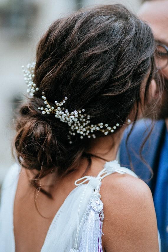 Wedding hair pins gypsophila hair pins dried gypsophila rustic hair Pins