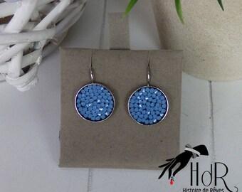 Earrings ' blue swarovski earrings silver
