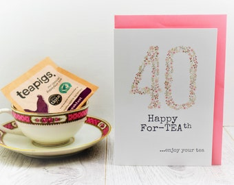 Tea Lovers Birthday Card with Teapigs teabag included small gift for brother brothers