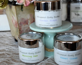 WHIPPED BODY BUTTER 4 oz by FarmHouseCraftMarket