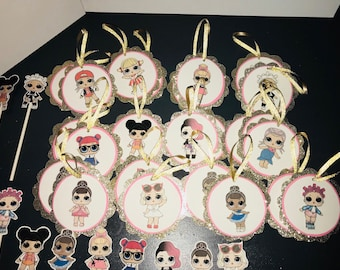 LOL Surpise Party Tags and Cupcake Toppers