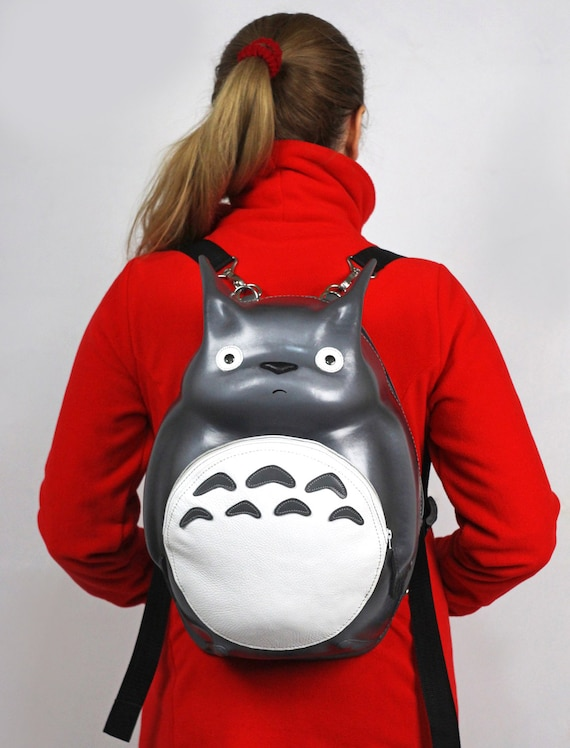 Backpack Transformer Black: Leather Backpack Totoro Backpack Transformer My Neighbor