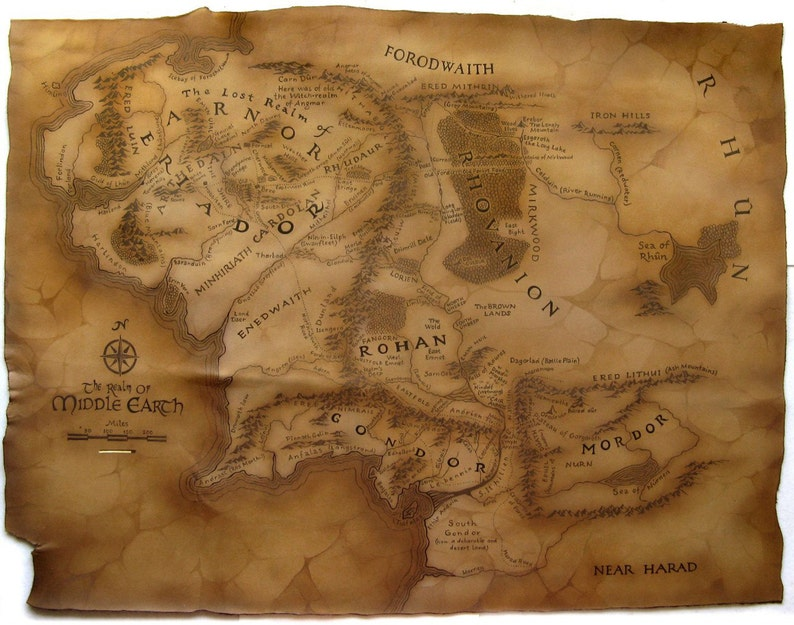 Mittelerde Karte Herr Der Ringe.Leder Karte Von Mittelerde Aus Der Herr Der Ringe 80middle Earth Karte The Hobbit Der Herr Der Ringe Tolkien Silmarillion