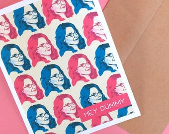 LIZ LEMON greeting card Liz Lemon 30 Rock Valentine Tina Fey card funny best geek gifts nerdy card boyfriend girlfriend wife husband gift