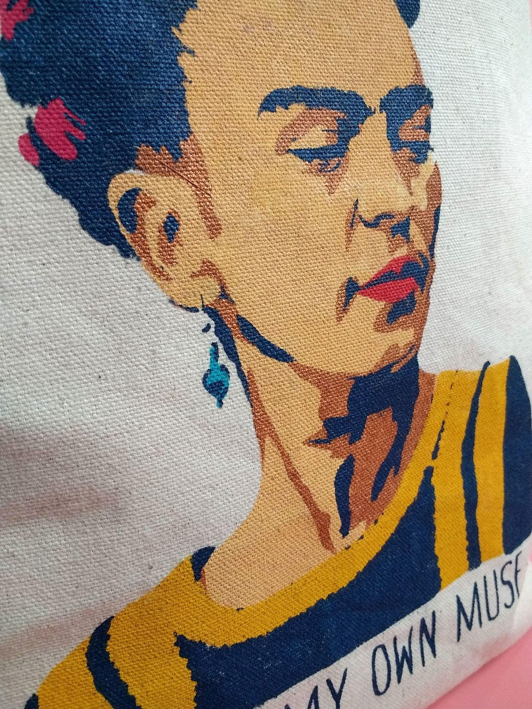 I Am My Own Muse Tote Bag Canvas Frida Kahlo Purse Reusable For Her