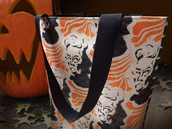 Tote Bag lined Halloween Witch