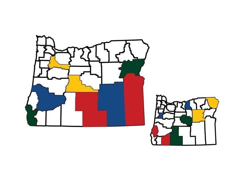 Oregon County Map Adventure Tracker Oregon County Map RV image 0