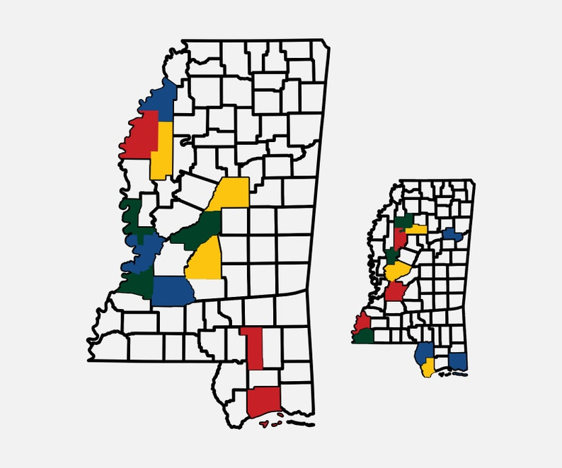 Mississippi County Map Adventure Tracker Mississippi County image 0