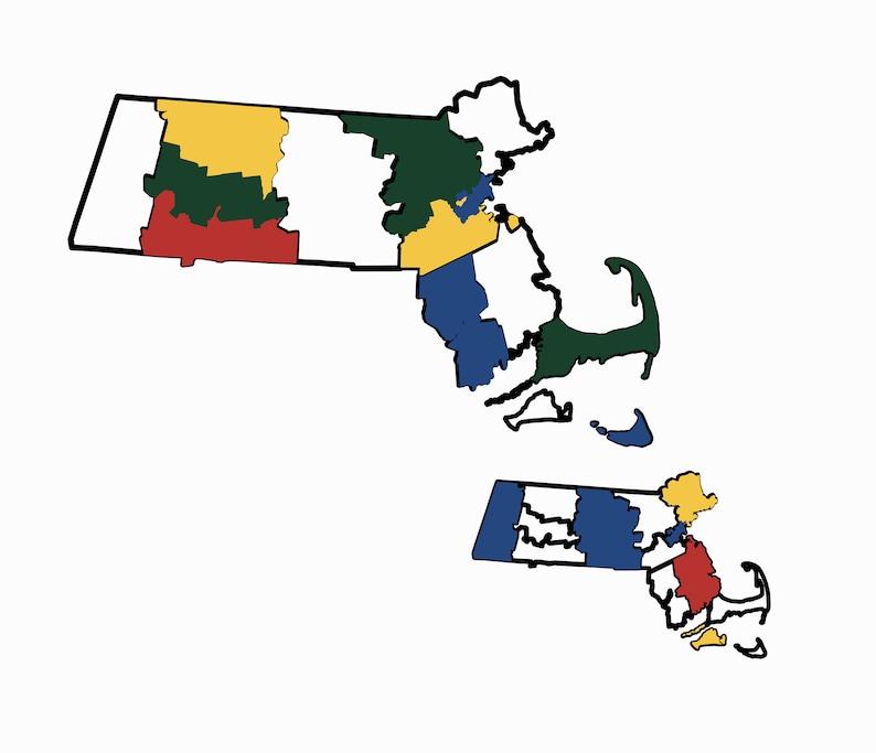 Massachusetts County Map Adventure Tracker Massachusetts image 0